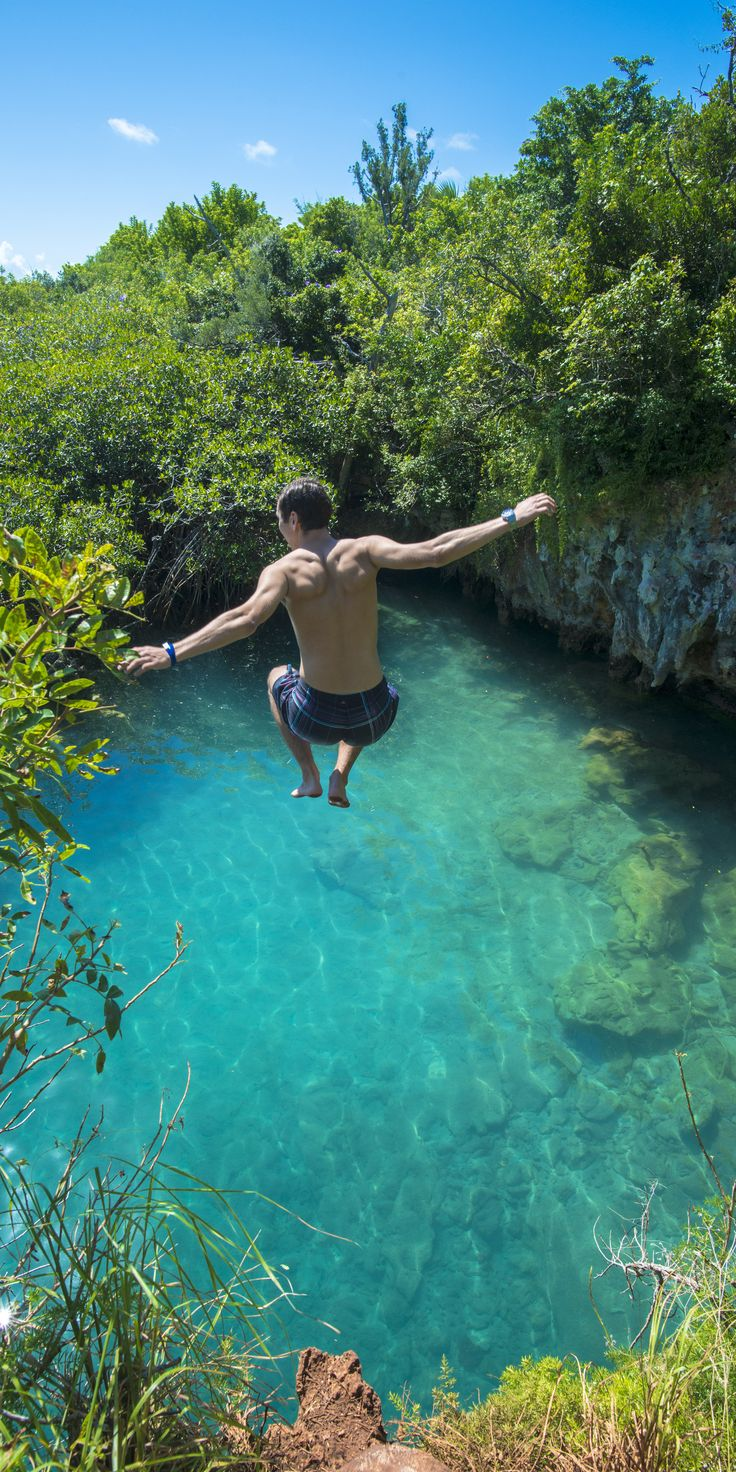 Bermuda | Grab your crew and venture deep inside this Royal Caribbean paradise for some of the most epic cliff jumping experiences in the region.