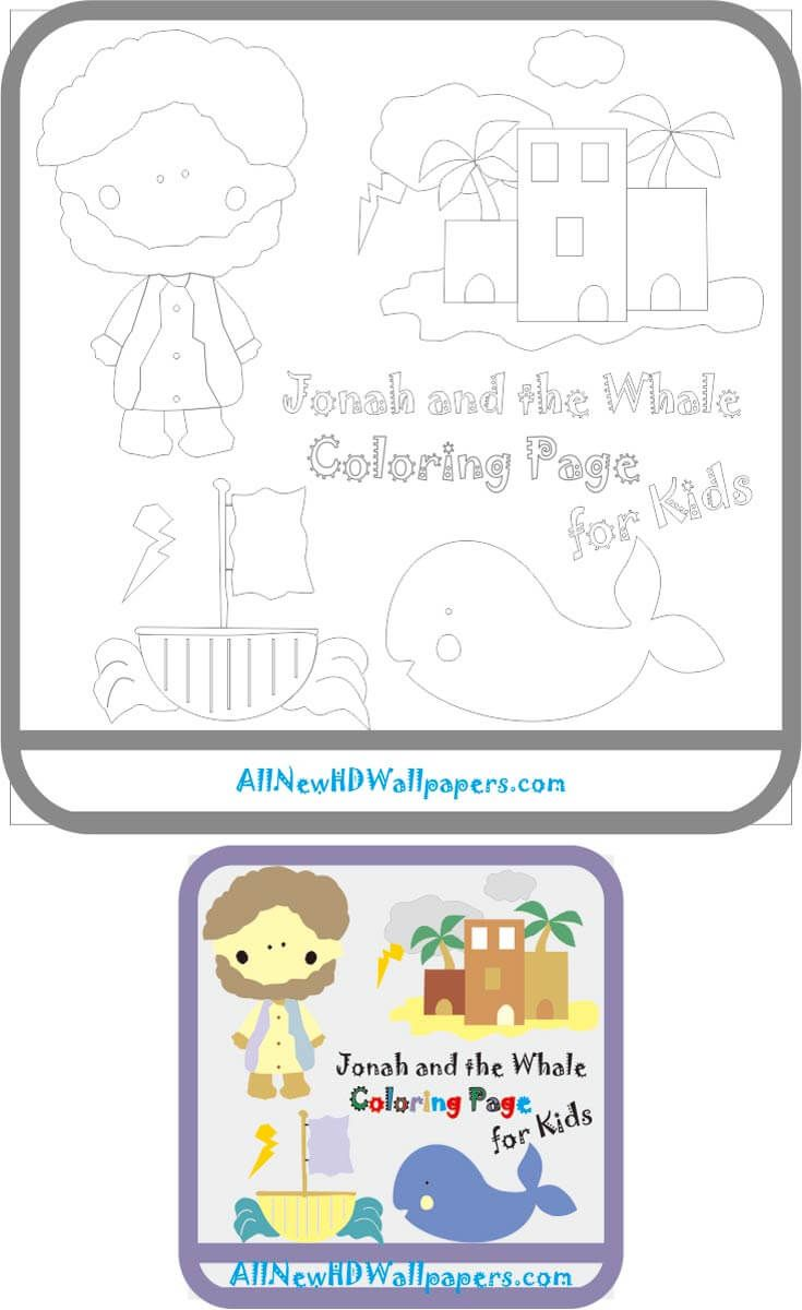 Jonah And The Whale Coloring Page Full Color