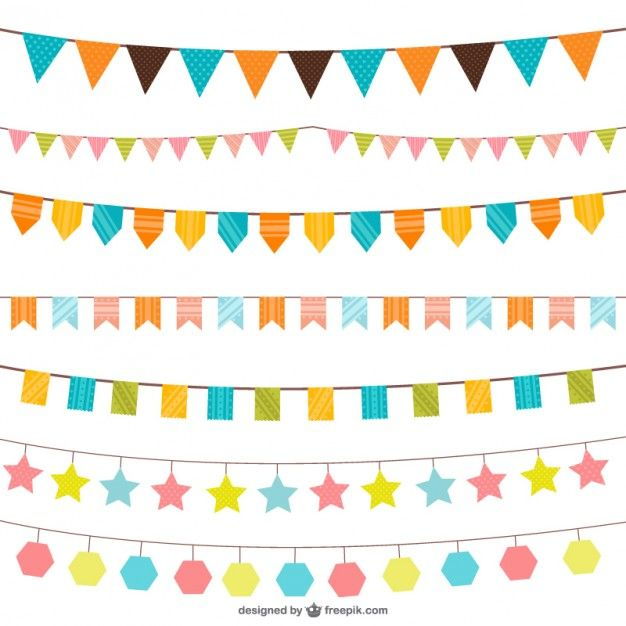 Birthday decorations vector