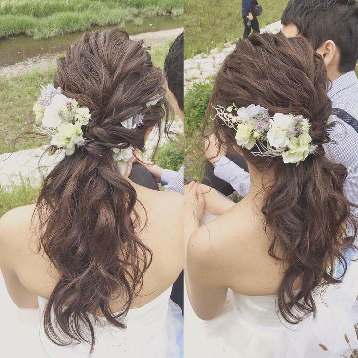 ローポニー🐴 ロケーションにぴったんこ‼︎ ・ 長さがあるそこの新婦様(*・ω・)ノ ナチュラルで可愛いですよ〜 ・ ・ #ヘアスタイル #hairmake #ヘアアレンジ #ブライダル #bridal #marriage #hairstyle #プレ花嫁 #花嫁 #marry花嫁 #ロングヘア #ウェディング #結婚式 #ヘアメイク#アップスタイル #ヘアセット #結婚準備 #ウェディングドレス #髪型 #プレ花嫁 #挙式 #wedding #花 #新婦 #hairarrange #フォト婚 #ロケーション前撮り #ドレス #wnブライダルヘア #ロケーションフォト