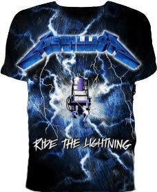 Official T Shirt METALLICA Ride The Lightning IND. M
