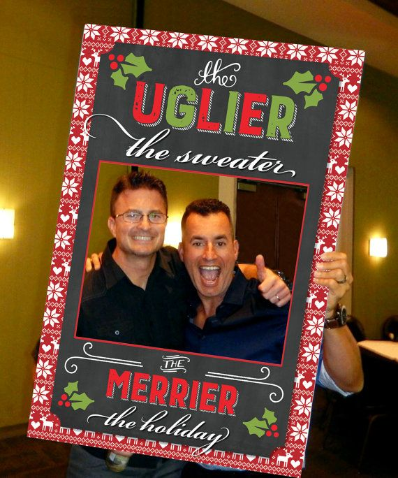 Christmas Party Photo Booth Ideas Part - 21: Ugly Christmas Sweater Photo Prop - Ugly Sweater Party Ideas - Ugly  Christmas Sweater Party By