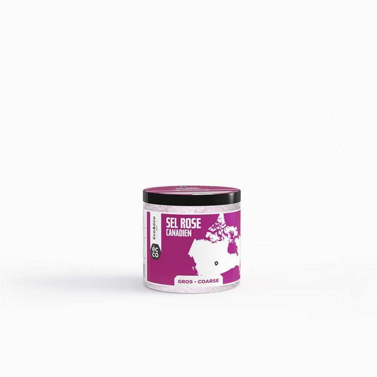 Éco & Éco - Sel de bain rose canadien   Éco & Éco - Pink Canadian Bath Salt
