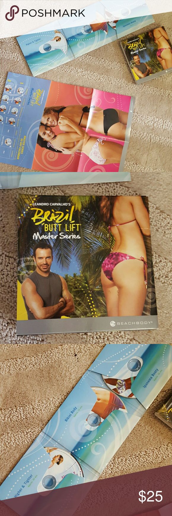 Brazilian butt lift master series DVDs Brazil bum workout  Three DVDs and a poster / calander  Master series beach body bum workout DVD Let me know if you have any questions   ** Price Negotiations Through Offer Button Feature Only ** be sure to check out the rest of my listings, and bundle to save ! Xo PINK Victoria's Secret Tops