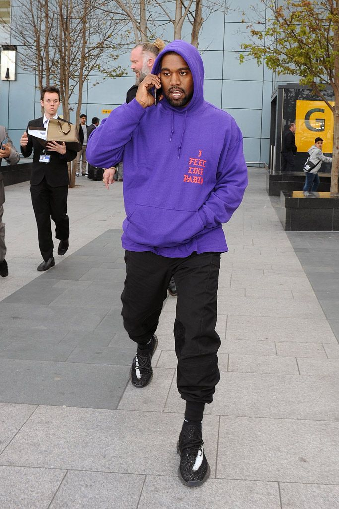 69d3e3f1262 Kanye West Wears New Yeezy Boost 350s Again