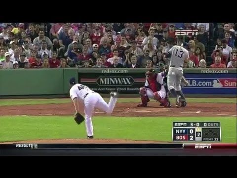 ▶ Alex rodriguez get hit by pitch by ryan dempster - red sox vs yankees FULL VIDEO 8/18/2013 - YouTube