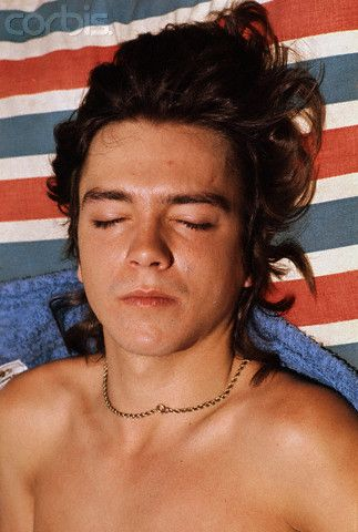 David Cassidy Relaxing on the Beach