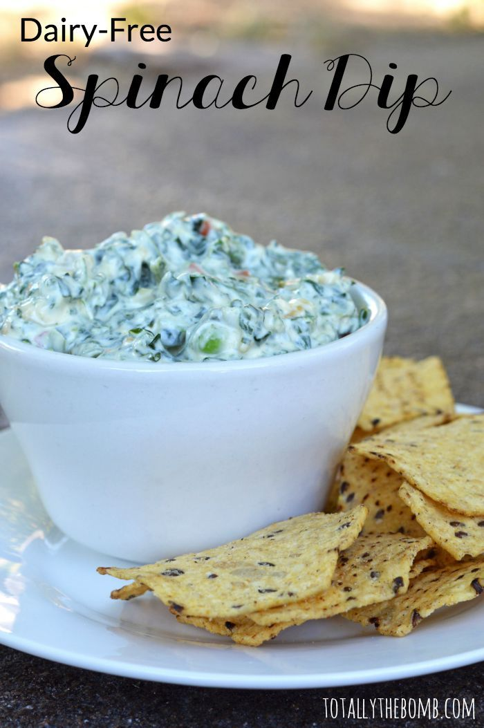 Dairy-Free Spinach Dip. This week my family is doing #MeatlessMondayNight, and this dip is going to taste AMAZING! #ad (Mix Vegetables Sour Cream)