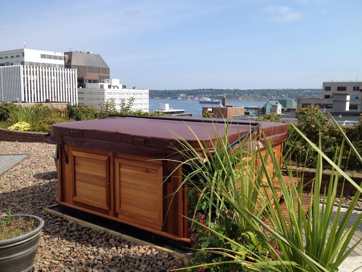 Arctic Spa on the roof of a Building in Nova Scotia Canada