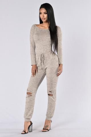 In The Middle Time Jumpsuit - Grey