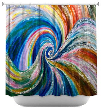Spiral Shower Curtain contemporary-shower-curtains