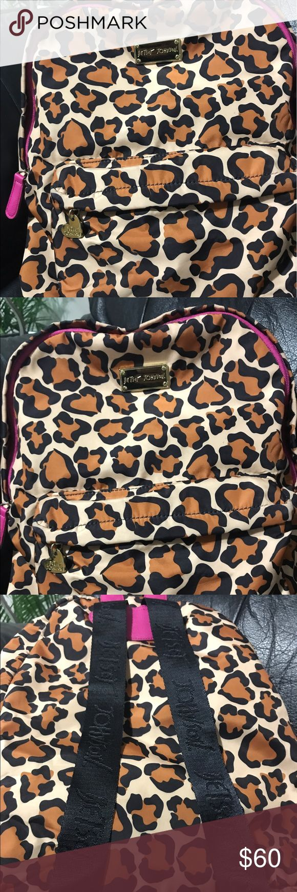 Betsey Johnson animal print backpack l Like new condition. Betsey Johnson backpack. Betsey Johnson Bags Backpacks