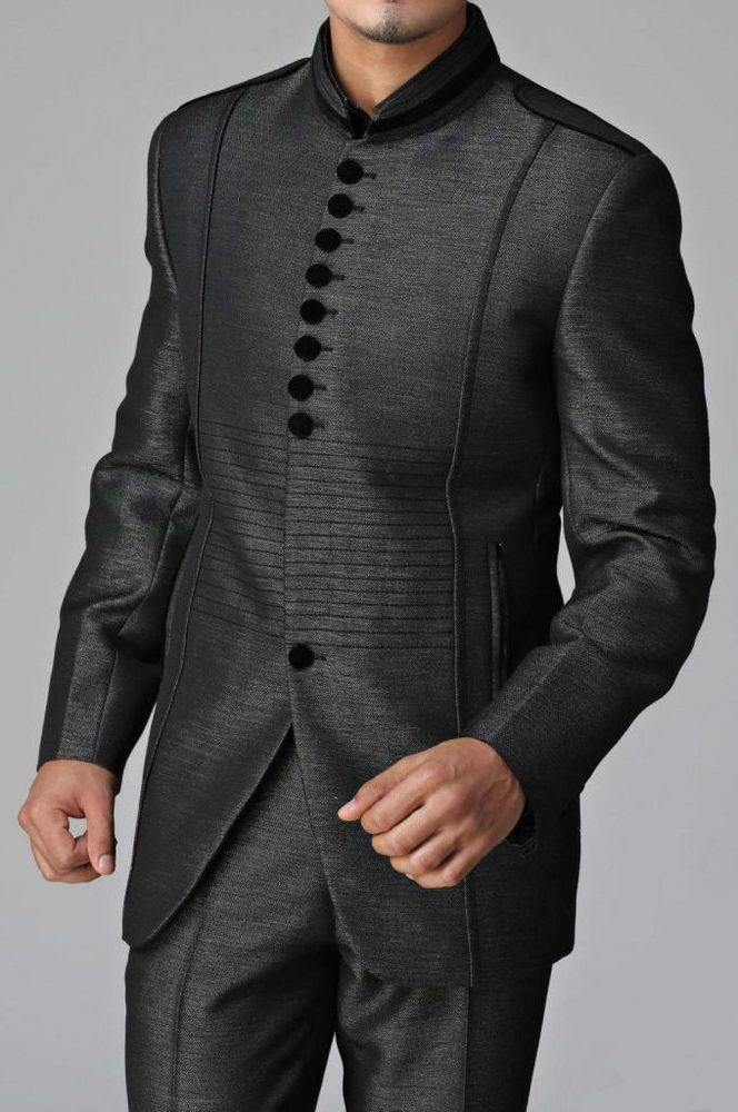New Mens IndoWestern Designer Groom Wedding Blazer Trouser Tuxedo Coat Pant Suit #NaazCollections #Tuxedo