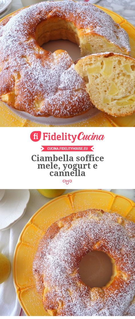Ciambella soffice mele, yogurt e cannella