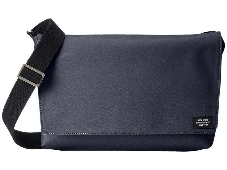JACK SPADE JACK SPADE - SITE MESSENGER (NAVY) MESSENGER BAGS. #jackspade #bags #shoulder bags #lining #polyester #
