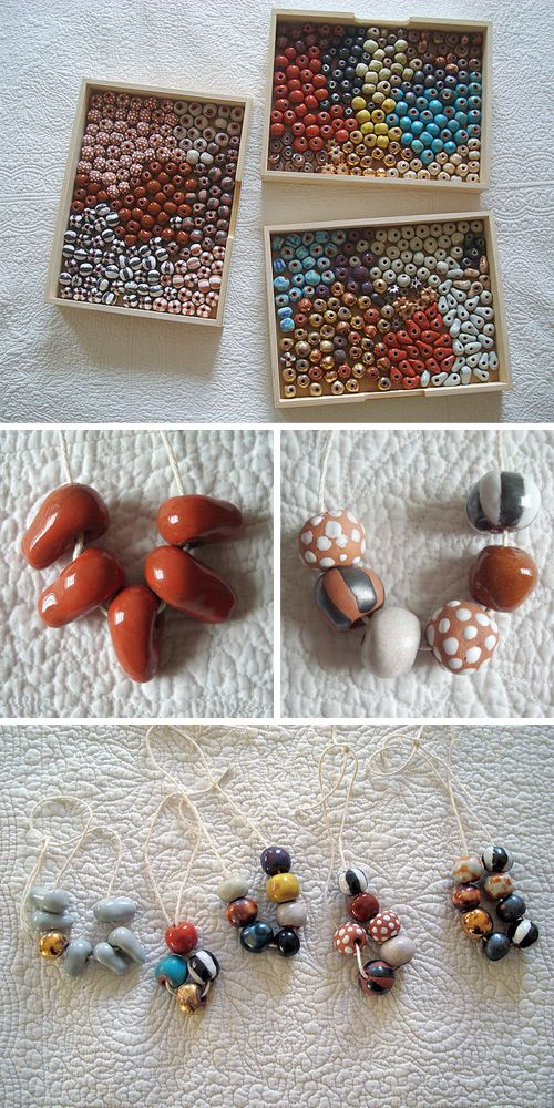 Ceramic beads: Beads Ideas, Ceramic Necklace