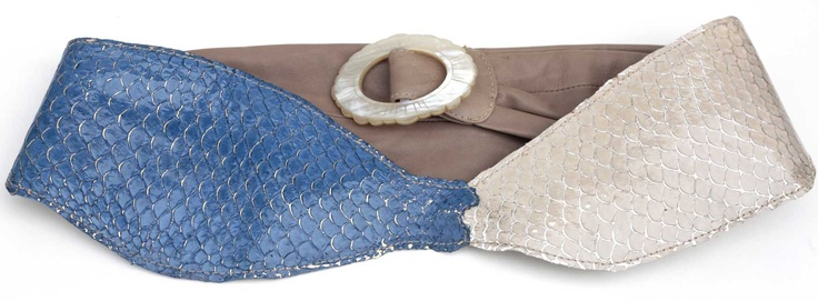 Made of fish leather (tilapia) | Design by Meher Kakalia