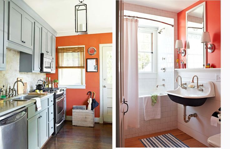 Cool Love The Idea Of An Orange Accent Wall Home Design Decoration Ideas