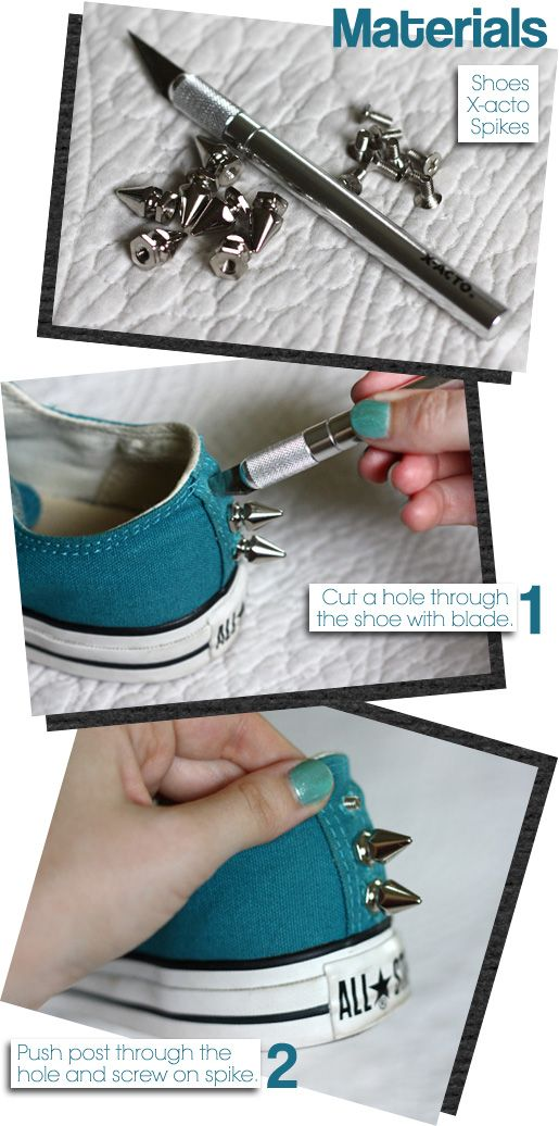 Stay sharp. Repurpose studs and spikes on your Chucks in this easy DIY guide. #chuckhack