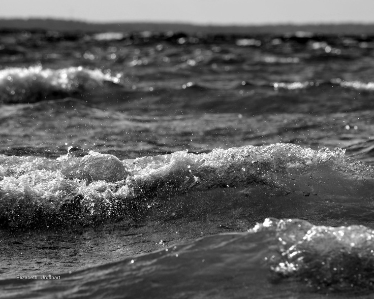 Black and white canvas large ocean wall art 30x40 photography lake house decor coastal picture gallery wrapped canvas