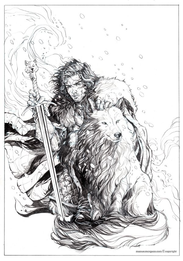 Jon Snow by Manuel Morgado, via behance