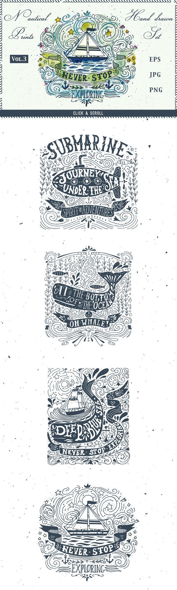Sailor Spirit   Nautical collection by Blue Ink Studio on Creative Market
