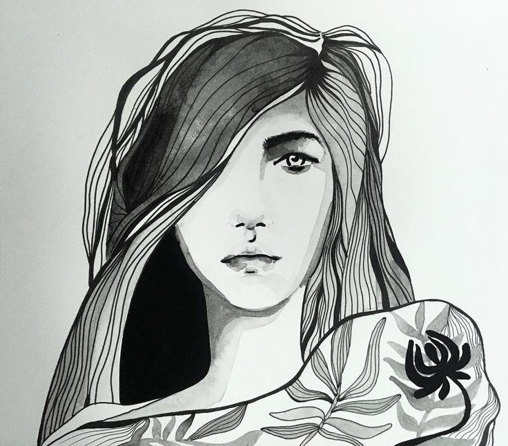 Watercolor portrait | Illustration