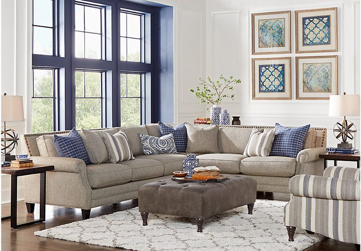 Picture Of Piedmont Gray 2 Pc Sectional From Sectionals Furniture Part 82
