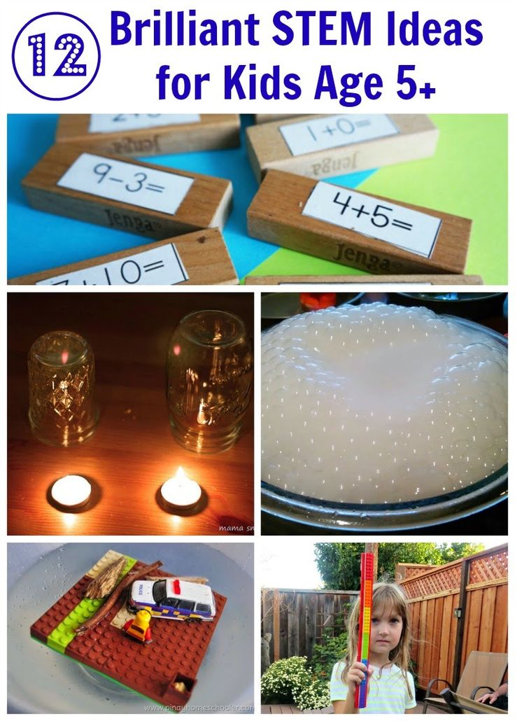 12 STEM Activity Ideas for Kids Age 5+. Can't wait to try these with my kids!