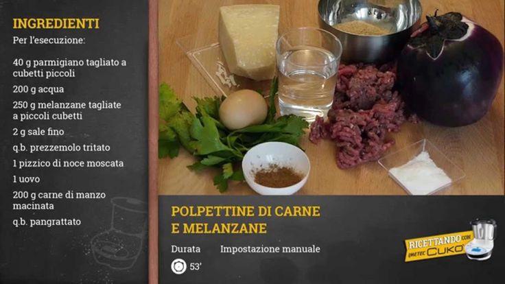 Ricettando con Cukò: video ricetta Polpettine di carne e melanzane -Mart...