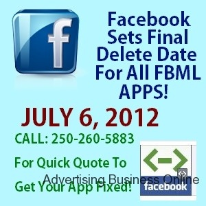 http://advertiseyourbizonline.com Advertising Business Online Facebook FBML Delete We Can Fix This For You!