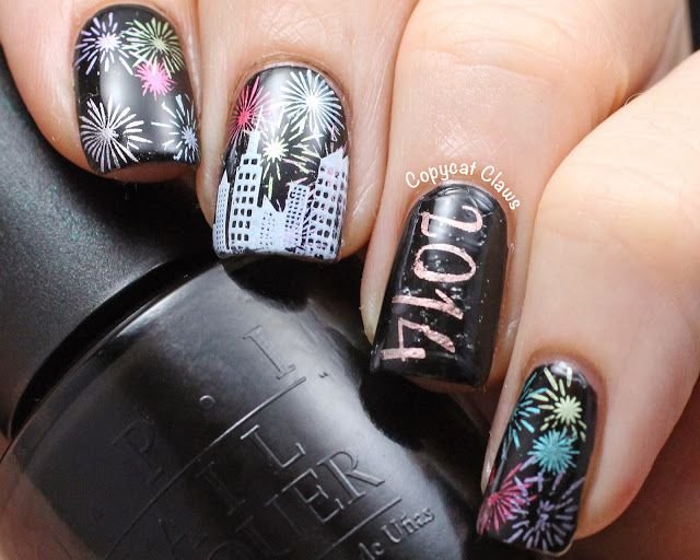 Sunday Stamping - Happy New Year 2014 (Copycat Claws)