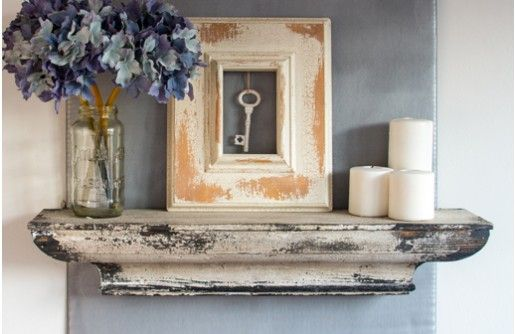 Charm Your Home With Distressed Cream-colored Floating