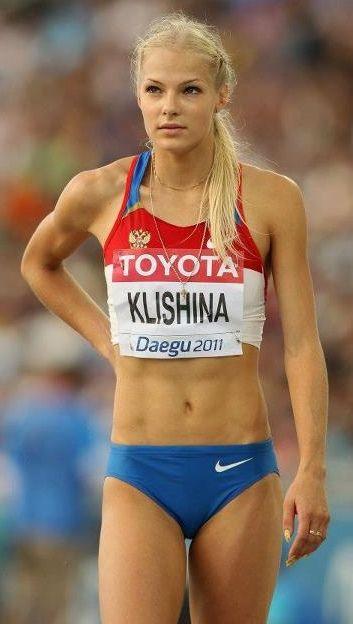 Russian long jumper, Darya Klishina.