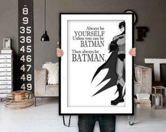 Batman cartel Batman Batman imprimir cotizaciones