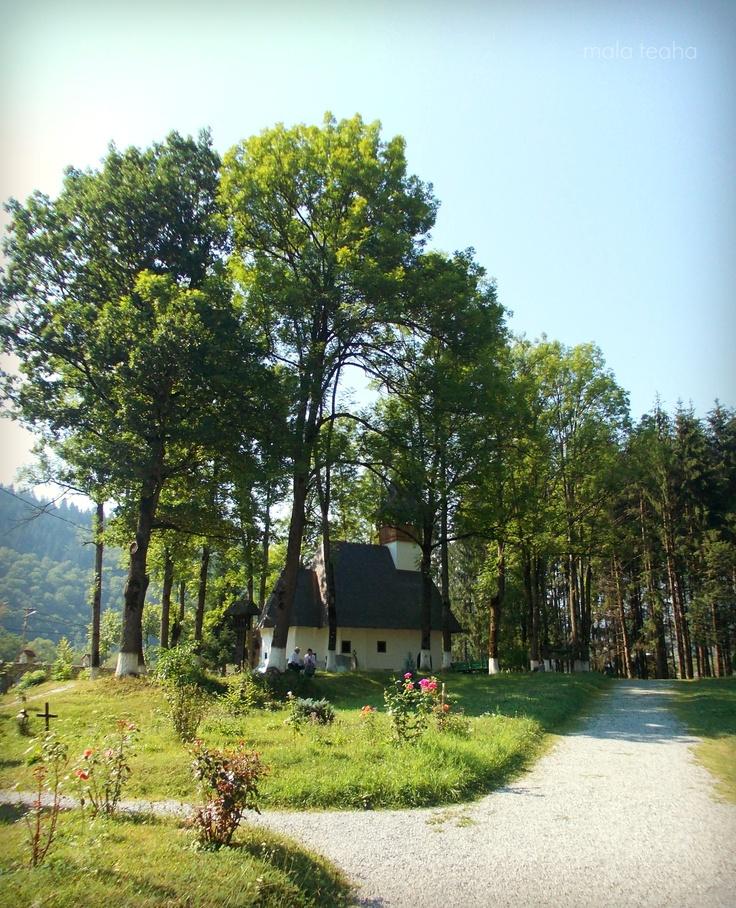 the old church inside of the Lupsa Monasterys' backyard, Romania