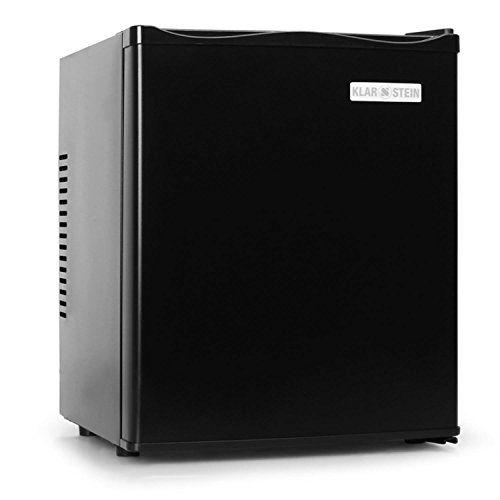 Klarstein Mks-10 - Frigo de bar silencieux - Minibar Réfrigérateur (0dB, 24 litres) - Cube noir mat et design