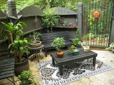 Decoracion de jardines peque os rusticos dise o de - Jardines interiores pequenos ...