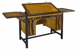 Authentic Models Bureau Architecte with adjustable work surface.  Architects were once skilled draftsmen and graceful calligraphers, able to draw a crisp and perfect line on virgin drafting stock. They worked at a classic architects desk crafted of precious woods, with an adjustable work surface tilted to an individualized angle.