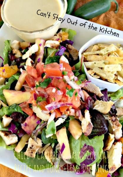 Chili's Caribbean Salad Copycat Recipe & Honey-Lime Dressing - Can't Stay Out of the Kitchen