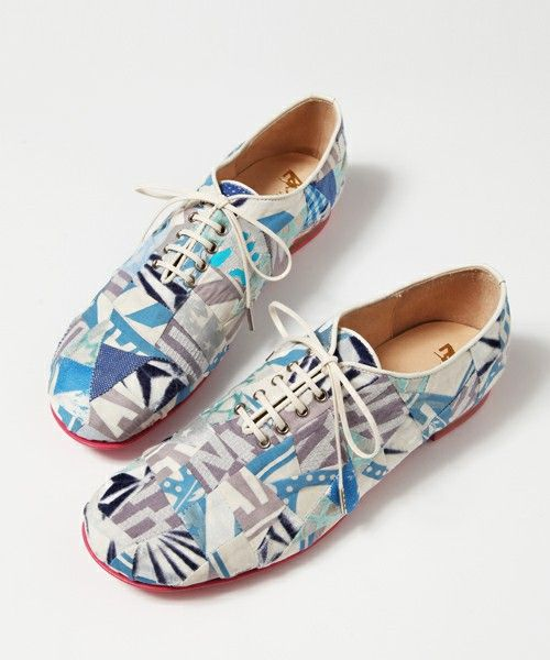 mintdesigns(ミントデザインズ)の【ANREALAGE×mintdesigns】 PATCHWORK SHOES(その他シューズ)|その他 #japanesefashion