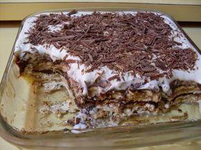 Na Cozinha da Margô: Pavê de Palha Italiana com Creme de Leite