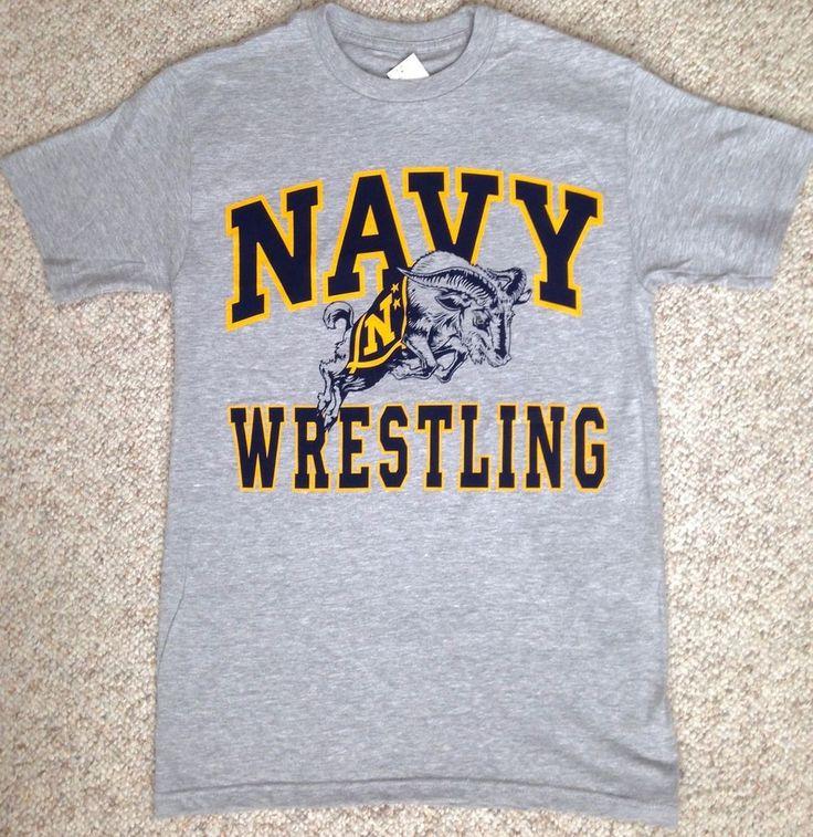 NAVY WRESTLING T-SHIRT Midshipmen United States Naval Academy Big-Logo ADULT SM #TheGame #NavyMidshipmen