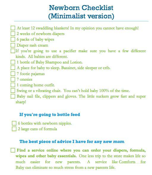 7 best images about Baby registry checklist on Pinterest Supply - newborn checklist