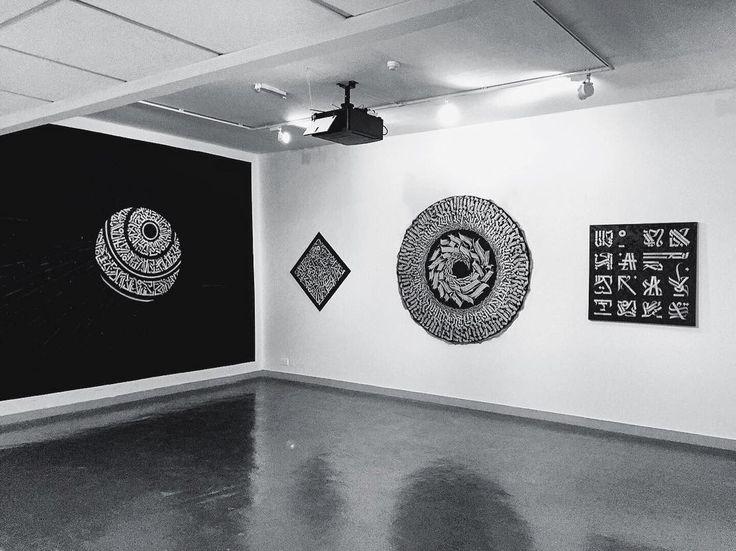 @calligrafuturism  My gallery space at the Sharjah Calligraphy Biennial 2016 (UAE). Location: Sharjah Art Museum Arts Area.  Don't miss it. #calligrafuturism Ꮯ Ꭺ Ꮮ Ꮮ Ꮖ Ꮹ Ꭱ Ꭺ F Ꮜ Ꭲ Ꮜ Ꭱ Ꮖ Ꮪ Ꮇ.  Теперь у меня дома очень пусто  все лучшие холсты летели в Арабские Эмираты и видимо так и останутся там в частных коллекциях.  Мое выставочное пространство в рамках Sharjah Calligraphy Biennial 2016 (UAE). Место: Sharjah Art Museum Arts Area.  Будете в Шардже  заглядывайте! #каллиграфутуризм by…