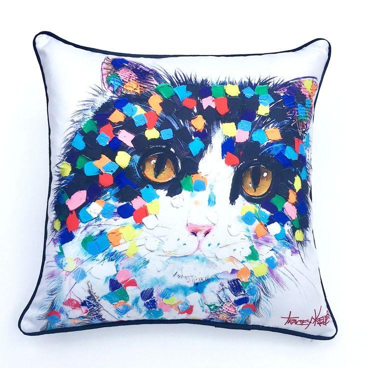 Mitzy Cat Indoor/Outdoor Cushion Cover - Tracey Keller