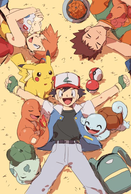 Pokemon. May just be the freaking happiest show on the planet.  I'm like, in tears. Nostalgia all the way. <3