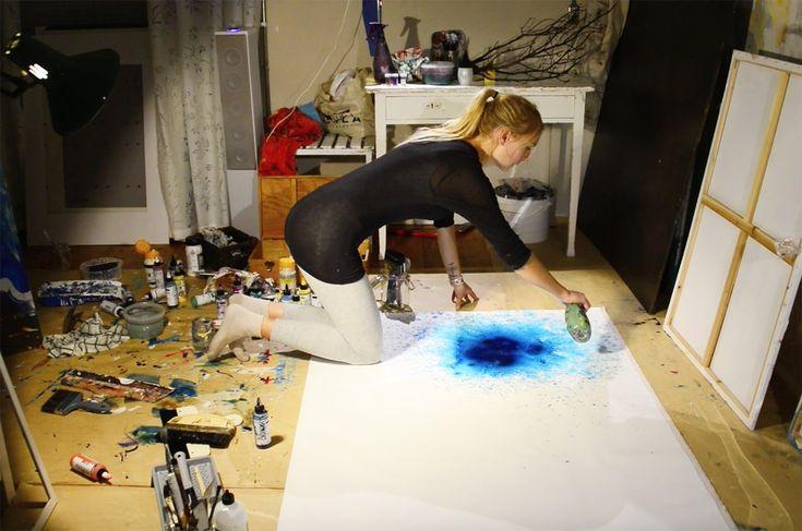"Live painting - Jonna Jinton - ""The beginning"""