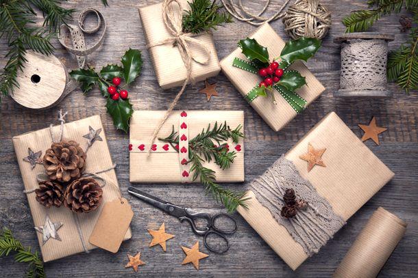 Винтажная упаковка новогодних подарков