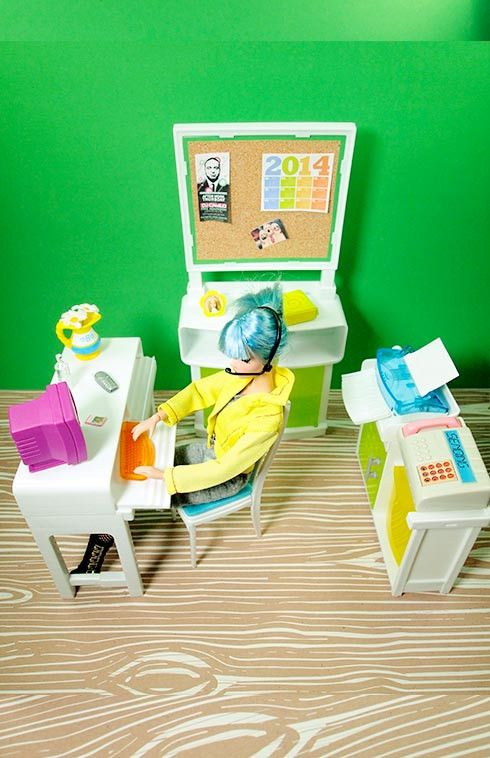 Barbie Graphic Designer Office Space Playset | Graphic ...